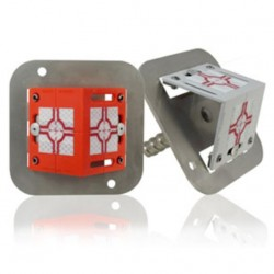 Rohová polohová značka se dvěma štítky včetně kovové základny