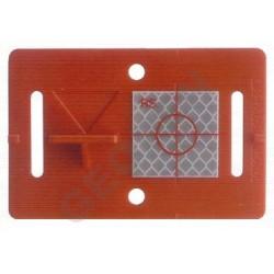 Nalepovací polohová a výšková značka červená s odrazným štítkem