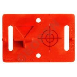 Nalepovací polohová a výšková značka červená se záměrným křížem