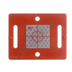 Nalepovací polohová značka červená s odrazným štítkem 30 x 30