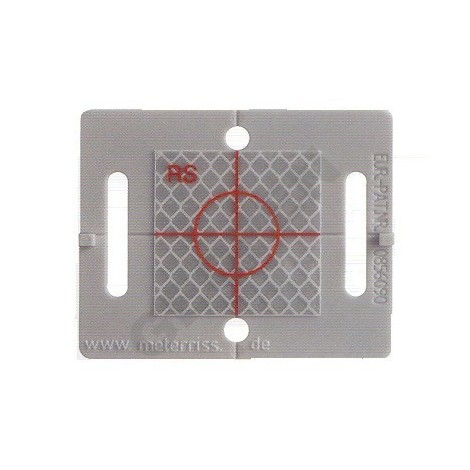 Polohová značka šedá s odrazným štítkem 40 x 40