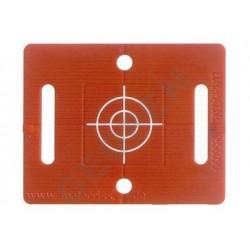Polohová značka červená se záměrným křížem