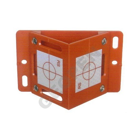 Rohová polohová značka červená se dvěma štítky 40 x 40 včetně plastové základny